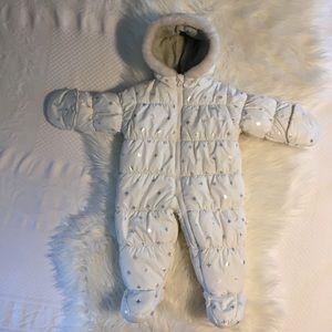 Carter's White Snowflake Snowsuit 9-12 months
